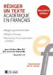 Dernières parutions sur Expression écrite, Rédiger un texte académique en français
