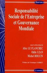 Dernières parutions dans Gestion, Responsabilité Sociale de l'Entreprise et Gouvernance Mondiale