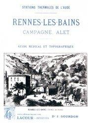 Dernières parutions dans Rediviva, Rennes-les-Bains, Campagne, Alet. Guide médical et topographique