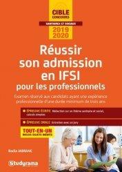 Dernières parutions sur Études infirmières, Réussir son admission en IFSI pour les professionnels