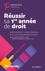 Dernières parutions dans Principes, Réussir sa 1re année de droit. 15e édition