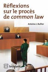 Dernières parutions sur Droit anglais, Réflexions sur le procès de common law