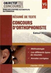 Souvent acheté avec Français Orthophonie 2014, le Résumé de texte https://fr.calameo.com/read/004967773b9b649212fd0