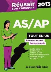 Souvent acheté avec Concours AS Annales corrigées, le Réussir son concours AS/AP 2013