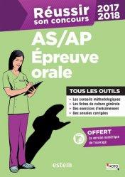 Dernières parutions sur Epreuve orale, Réussir son concours AS/AP 2017-2018 - Épreuve orale