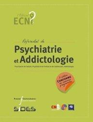 Dernières parutions sur ECN iECN DFASM DCEM, Référentiel de psychiatrie et addictologie