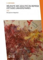 Dernières parutions sur Psychologie sociale, Réussite des adultes en reprise d'études universitaires
