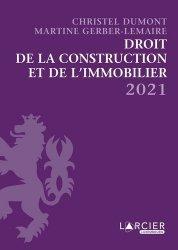 Dernières parutions sur Immobilier et droit de la construction, Recueil. Droit de la construction et de l'immobilier, Edition 2020