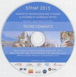 Dernières parutions dans Récents progrès en génie des procédés, Récents progrès en génie des procédés - STPMF 2015 (science et technologie des poudres & poudres, et matériaux frittés :