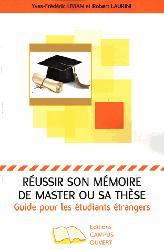 Dernières parutions sur Examens, Réussir son mémoire de master ou sa thèse