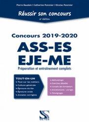 Dernières parutions sur Entrée en école de travail social, Réussir son concours ASS-EJE-ES-ME 2019-2020