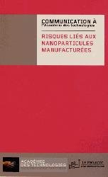 Dernières parutions sur Nanotechnologies, Risques liés aux nanoparticules manufacturées