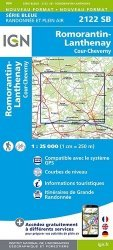 Nouvelle édition Romorantin-Lanthenay/Cours-Cheverny. 1/25000