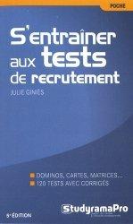 Dernières parutions dans Poche, S'entraîner aux tests de recrutement. 5e édition