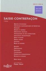 Dernières parutions dans Dalloz référence, Saisie-contrefaçon 2013-2014. 3e édition