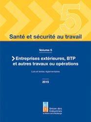 Dernières parutions sur Hygiène - Sécurité, Santé et sécurité au travail - volume 5