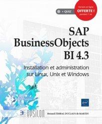 Dernières parutions dans Epsilon, SAP BusinessObjects BI 4.3