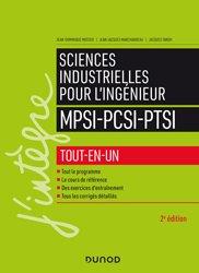 Dernières parutions sur 1ère année, Sciences industrielles pour l'ingénieur MPSI-PCSI-PTSI