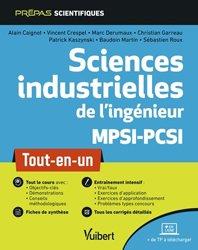 Dernières parutions sur Physique pour la prépa, Sciences industrielles de l'ingénieur MPSI-PCSI