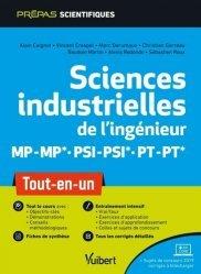 Dernières parutions sur Sciences industrielles, Sciences industrielles de l'ingénieur MP/MP PSI/PSI PT/PT