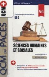 Dernières parutions sur QCM POUR L'UE7, Sciences humaines et sociales UE7 livre paces 2020, livre pcem 2020, anatomie paces, réussir la paces, prépa médecine, prépa paces