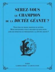 Dernières parutions sur Expression écrite, Serez-vous le champion de la dictée géante ?