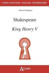 Dernières parutions sur AGREGATION, Shakespeare, King Henry V