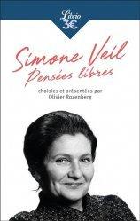Dernières parutions dans Librio, Simone veil, pensees libres