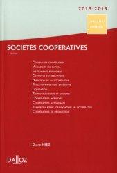 Dernières parutions dans Dalloz référence, Sociétés coopératives. Création, organisation, fonctionnement, Edition 2018-2019