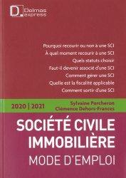 Dernières parutions dans Delmas express, Société Civile Immobilière. Mode d'emploi, Edition 2020-2021
