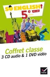Dernières parutions dans So English!, So English! 5e (2017) : Coffret Classe 3CD Audio et 1 DVD Vidéo