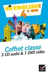 Dernières parutions dans So English!, So English! 4e (2017) : Coffret Classe 3 CD Audio et 1 DVD Vidéo