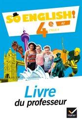 Dernières parutions dans So English!, So English! 4e (2017) : Livre du Professeur