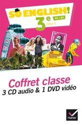 Dernières parutions dans So English!, So English! 3e (2017) : Coffret Classe 3 CD Audio et 1 DVD Vidéo