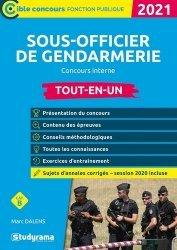Dernières parutions sur Concours administratifs, Sous-officier de gendarmerie concours interne