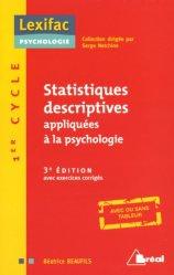 Souvent acheté avec Manuel de sexologie, le Statistiques descriptives appliquées à la psychologie