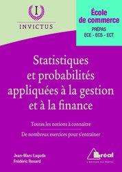 Dernières parutions sur Maths pour l'économie, la gestion et la finance, Statistiques et probabilités appliquées à la gestion et à la finance