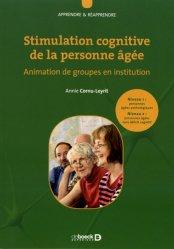 Nouvelle édition Stimulation cognitive de la personne âgée