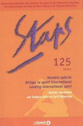 Dernières parutions sur Enseignement du sport, Staps N° 125/2019-3 : Diriger le sport international
