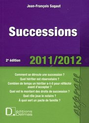 Dernières parutions dans Delmas express, Successions. 2e édition 2011-2012