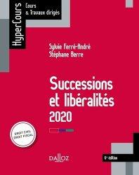 Dernières parutions dans HyperCours, Successions et libéralités. Edition 2020