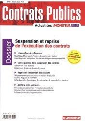 Dernières parutions sur Marchés publics, Suspension et reprise de l'exécution des contrats