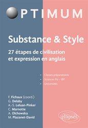 Dernières parutions sur Guides de conversation, Substance & style : 27 étapes de civilisation et expression en anglais