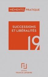 Dernières parutions dans Mémento pratique, Successions et libéralités. Edition 2019