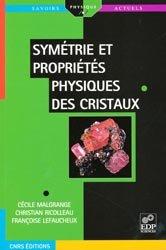 Dernières parutions dans Savoirs actuels, Symétrie et propriétés physiques des cristaux