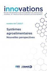 Dernières parutions sur Industrie agroalimentaire, systemes agroalimentaires - Nouvelles perspectives