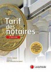 Dernières parutions sur Notariat, Tarif des notaires