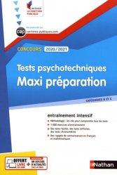 Dernières parutions dans Intégrer la fonction publique, Tests psychotechniques. Maxi préparation, Edition 2020-2021