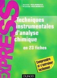 Dernières parutions sur Chimie analytique, Techniques instrumentales d'analyse chimique