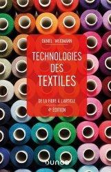 Dernières parutions sur Sciences de la Vie, Technologies des textiles